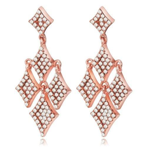 波西米亚时尚925银镶锆石耳环 2