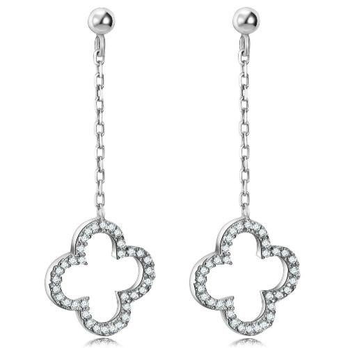 经典时尚925银镶锆石耳环 5