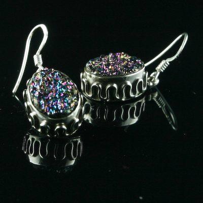 经典时尚半宝石耳环 3