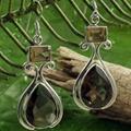 经典时尚半宝石耳环 5