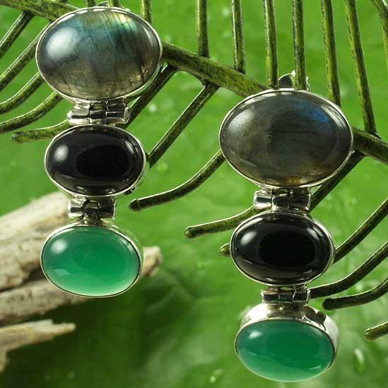 优雅时尚半宝石耳环 3