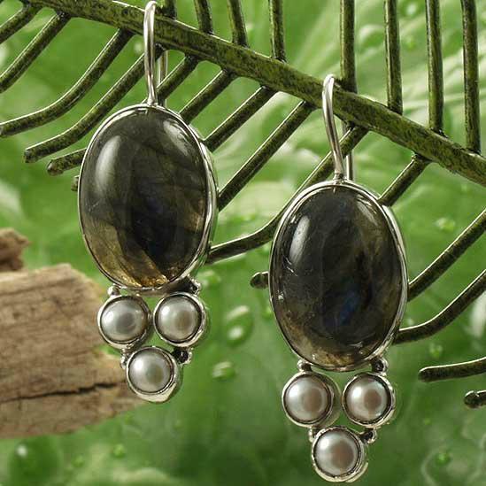优雅时尚半宝石耳环 4
