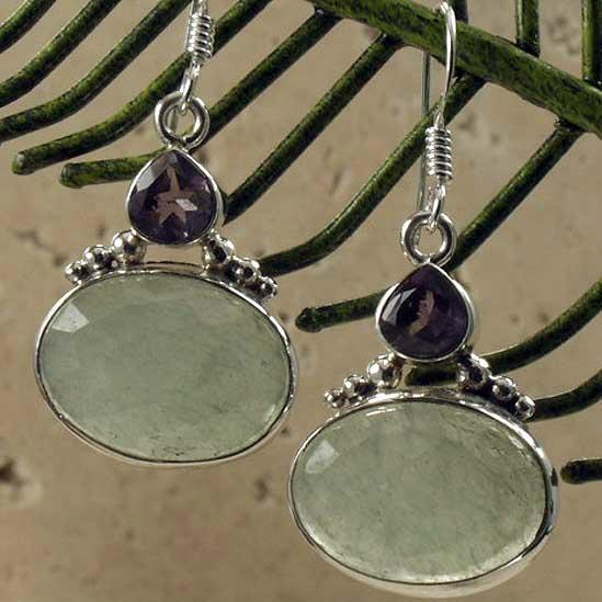 优雅时尚半宝石耳环 5