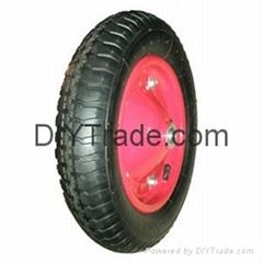 Rubber wheel for wheel barrow for sale