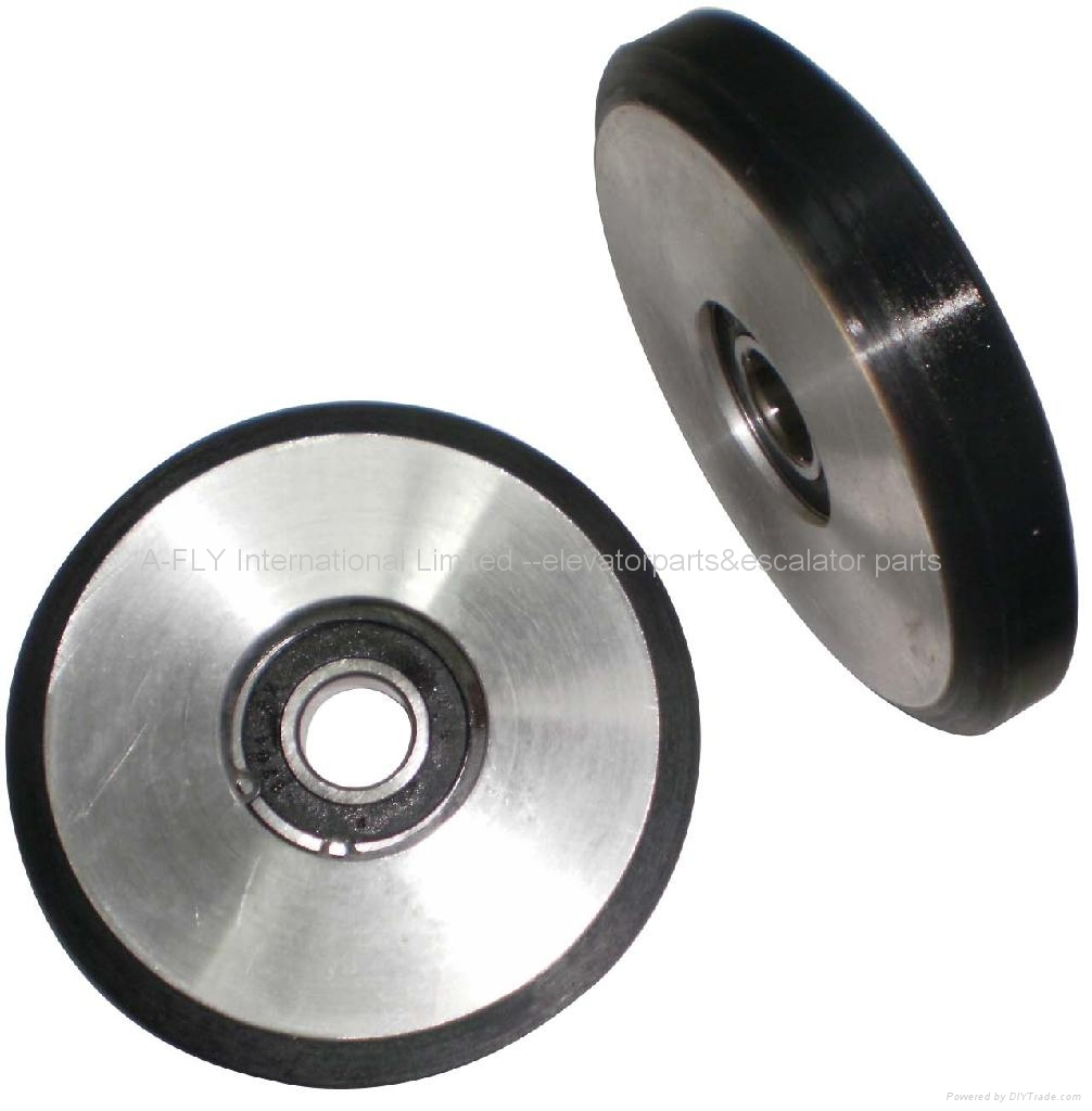 D125 Elevator high speed guide rollers for hitachi