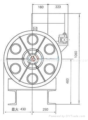 13VTR(8.5KW) Elevator Traction Sheave For T-S/VF3200  4