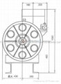 13VTR(8.5KW) Elevator Traction Sheave Suitable For T-S/VF3200 2