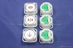 4 Pin Button,AC/DC 24V Square Push Button 39.5 * 39.5 * 29 For BLT