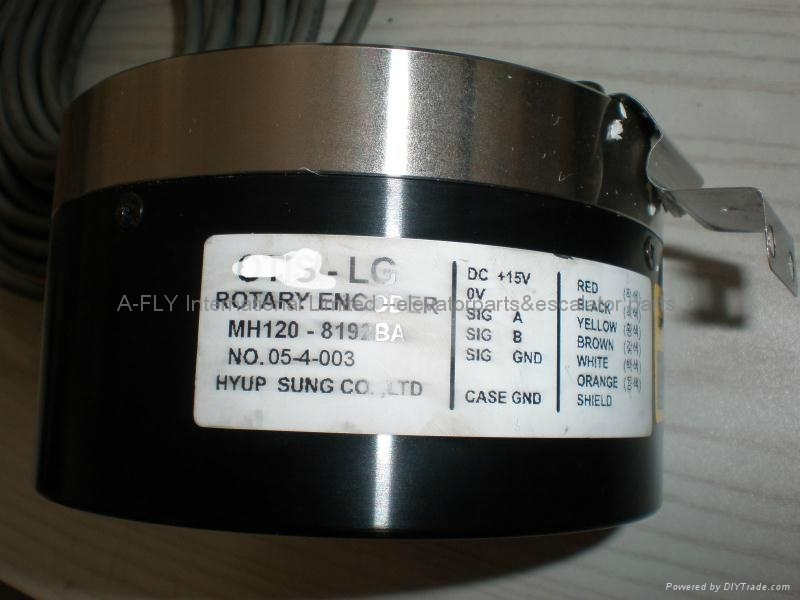 H128-52-8192BO Rotary Encoder 128 * 52MM  Encoder For DI4 Elevator Parts 1