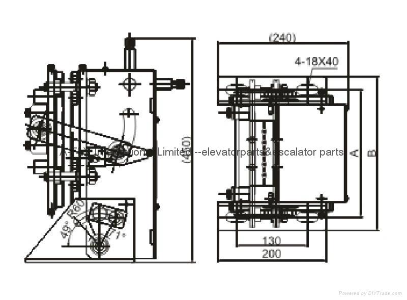 Wire Rope Socket AFOX-250 Elevator Parts 2