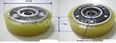 D120 Chain roller(escalator parts) for toshiba,dong yong