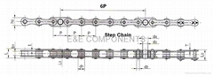 Step chain(6P/Escalator parts)