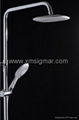 Luxury Brass Shower Caddy Rain Head Shower 1