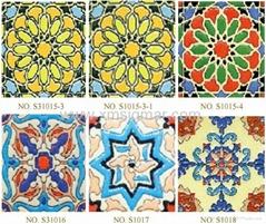 Golden Jade Plaid Pattern Ceramic Tiles