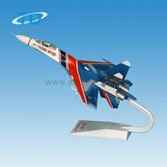 logo custom SU-27 1:70 fighting plane model