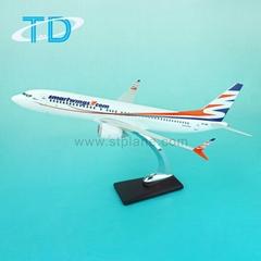 B737-MAX8 1/100 39.5cm Smartwings aero model plane hot business gift