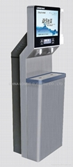 "Standing Stainless Steel Public RO Water Fountain with 19"" LCD Media Player"