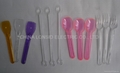 Disposable plastic taster spoon, coffee stirrers and taster forks