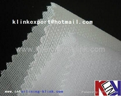 Resin finish polyester woven interlining for cap