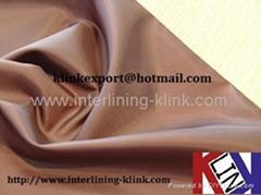Taffeta polyester woven lining