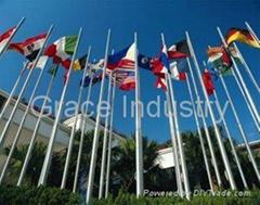 Stainless Steel Flag Pole Set