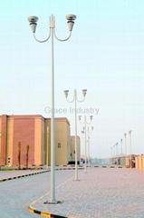 Aluminum Garden Lighting Poles and Street Lamp Posts