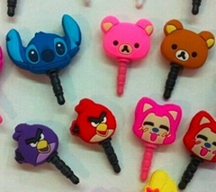 soft pvc Earphone jack pin Dust proof plug