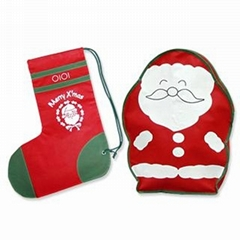 chrismas drawstring bag