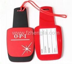 Personality soft pvc luggage tag