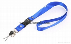 Mobile phone neck strap lanyard