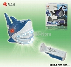 new toy shark fish with light