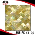 Polished Golden Sea Shell Tile Kitchen