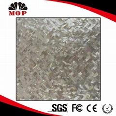 Herringbone White Lip Shell Mosaic Tile