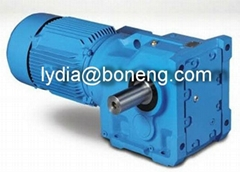 K series bevel spiral gearboxes right angle geared motor
