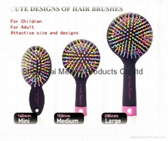 Rainbow Comb Repair Hair Portable Colors Anti-static Hair Styling Comb Brush