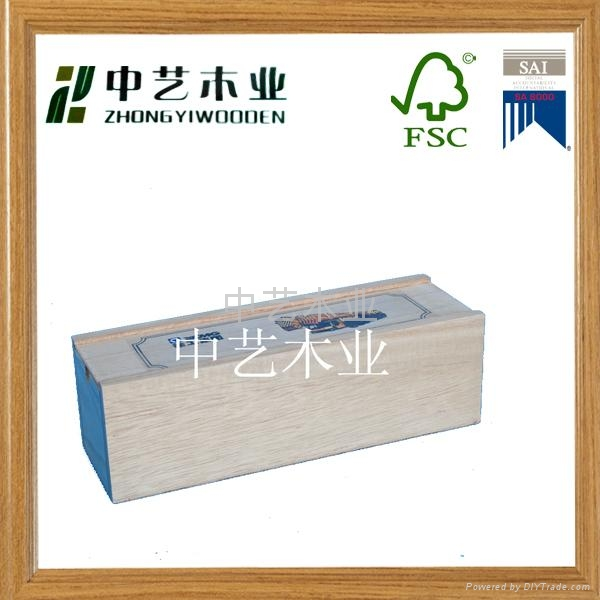 FSC&SA8000 wooden wine box 3