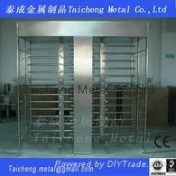 Double door total high stainless steel turnstiles