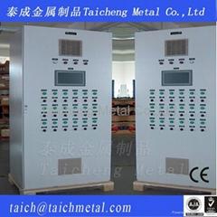 Industrial air compressor service control cabinet