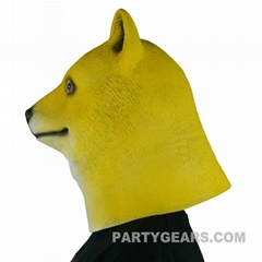 latex yellow doge mask