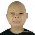 latex crying baby mask