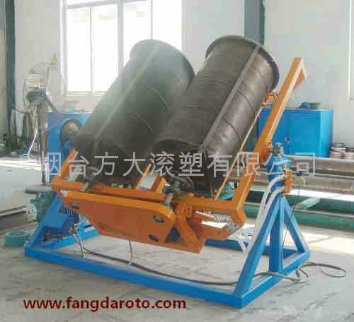 Open Flame Rock And Roll Rotomolding Machine 1011