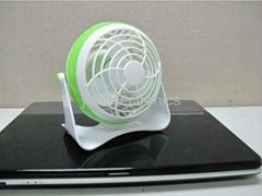4 inches Battery Rechargeable Desk Stand USB Fan