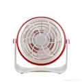 4 inches Battery Rechargeable Desk Stand USB Fan 4
