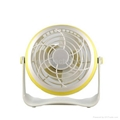 4 inches Battery Rechargeable Desk Stand USB Fan 5