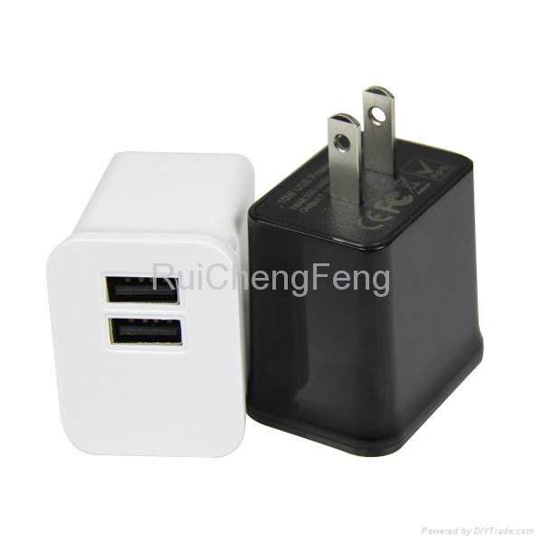 Dual USB 5V 2.1A EU plug and US plug travel wall Home Charger for Iphone Ipad 2