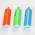 car cigarette lighter socket adapter 2.1A USB Tablet car Charger 3