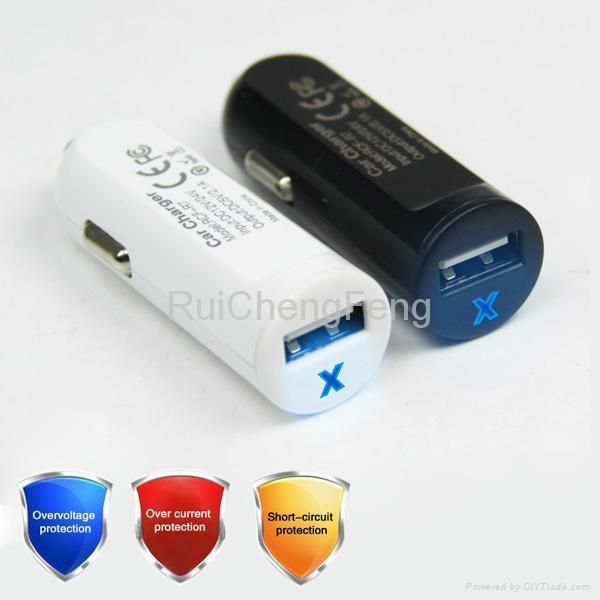car cigarette lighter socket adapter 2.1A USB Tablet car Charger 4