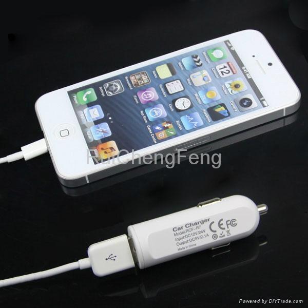 car cigarette lighter socket adapter 2.1A USB Tablet car Charger 5