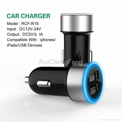 Newest Promotional Dual USB 3.1A Mobile Phone Charger for Iphone 5s Car Charger