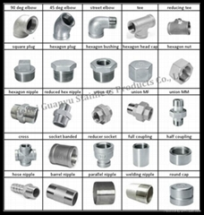 stainless steel casting threaded screwed pipe fittings
